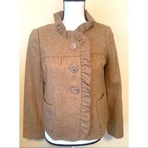 J. Crew 100% wool size small tan blazer